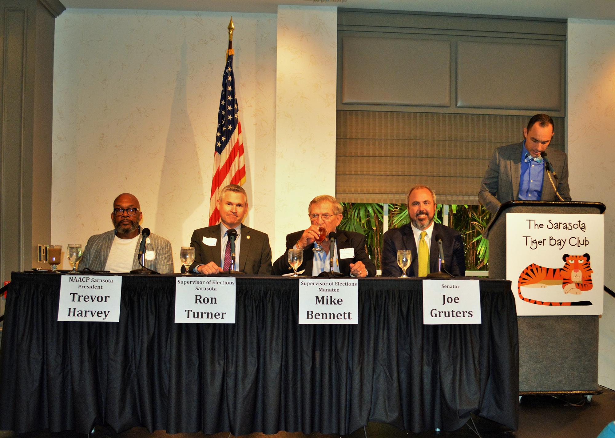 panel of men